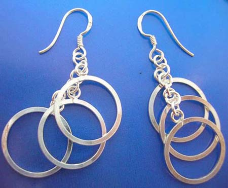 925 sterling silver earring circles
