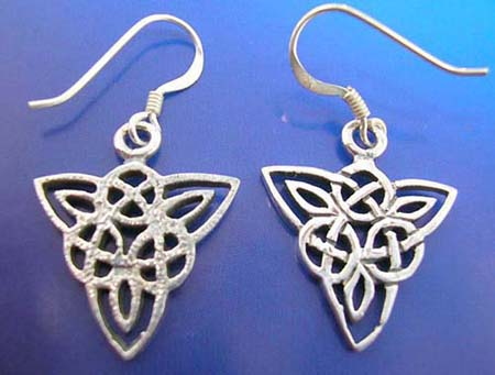 celtic design silver earring
