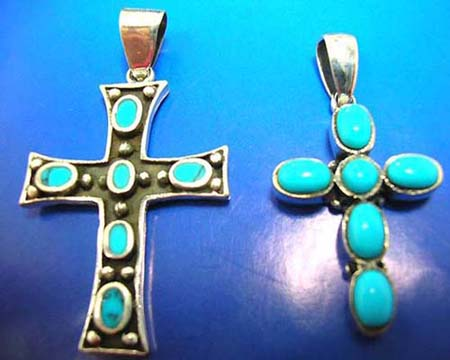discount cross turquoise silver pendants