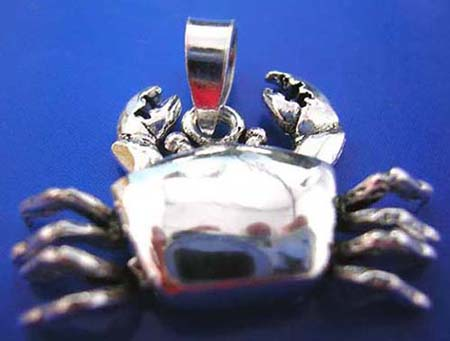 wholesale merchandise, crab design sterling silver 925 thailand made pendant with movable legs
