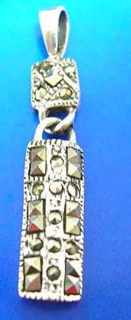 sterling silver pendant with multi marcasite stone