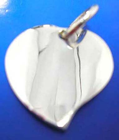 solid heart love sterling silver 925 thailand made pendant
