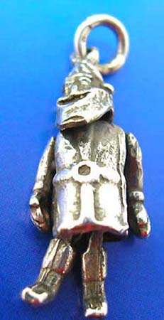 legs and arms movable soldier man outline sterling silver pendant