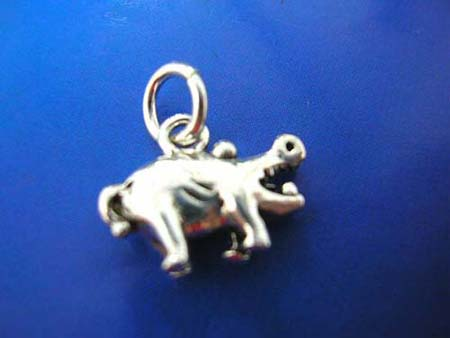 mini buffalo figure thai silver pendant sterling 925