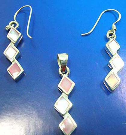mother of pearl seashell jewelry set gift sea shell set