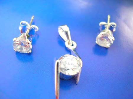 sterling silver jewelry, cz jewelry set