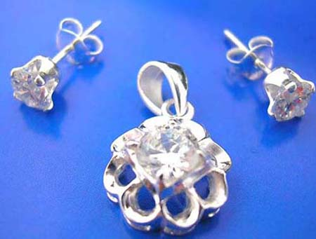cubic zirconia  cz jewelry set