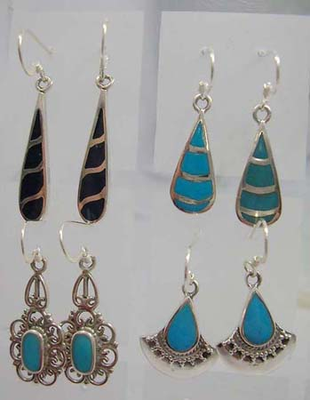 turquoise inlay silver jewelry