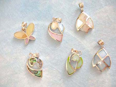 mother of pearl pendants charms