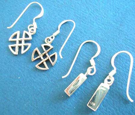 silver earrings, costume earring
