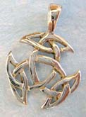 Small cut-out Celtic knot sterling silver pendant.