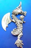 Flying dragon sterling silver 925 Thailand made pendant