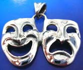 Double face plaque sterling silver 925 Thailand made pendant