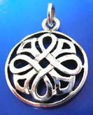 sterling silver 925 Thailand made pendant in Celtic knot in circle design