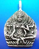 Indonesia buddha figure Thai silver pendant sterling 925